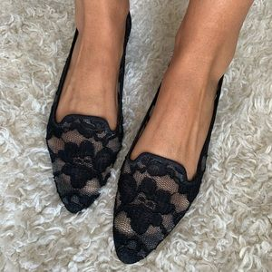 Manolo Blahnik Lace Flats